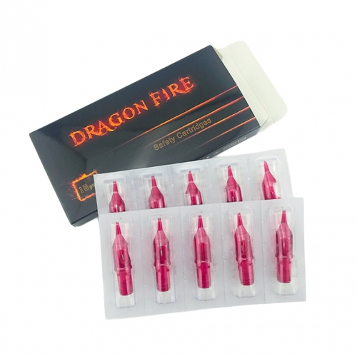 10pcs/Box Red Dragon Fire Tattoo Cartridge Needles with Membrane