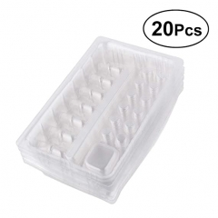 20pcs Disposable Plastic Tattoo Needle Cartridge Container Ink Cups Pigment Rack Holder Tray Tattoo Accessories (Transparent)