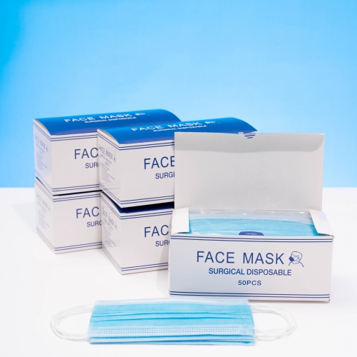 Disposable Face Masks - 3-Ply Breathable & Comfortable Filter Safety Mask - 50 PCS - For Home & Office