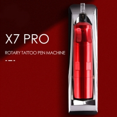 X7 Pro Wireless Rechargeable Needle Cartridges Rotary Tattoo Machine With Original German Faulhaber Motor