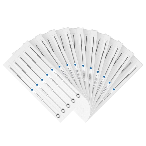 F High Quality 50pcs/box Disposable & Sterilized Tattoo Lining Needles with Blue Dot