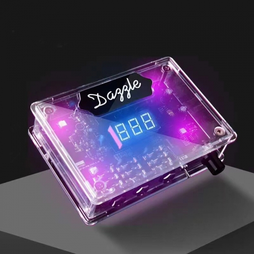 2020 New Clear Cover Tattoo Power Supply Machine With Different Colors Lights